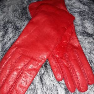 Accessories - GORGEOUS PAIR OF RED GLOVES!!